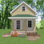 Tiny House Home Build Plans 1 Bed Cottage Narrow Lot 720