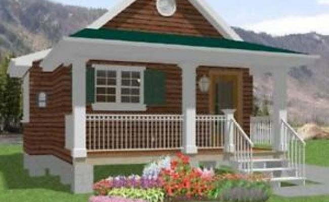 Tiny House Home Building Plans 1 Bed Cottage Cabin 518 Sf