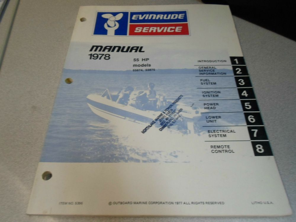 medium resolution of 1978 evinrude servicio shop reparaci n manual de taller 55 hp oem barco 5396 ebay