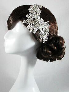 wedding bridal head piece crystal lace vintage head band hair accessories satine ebay