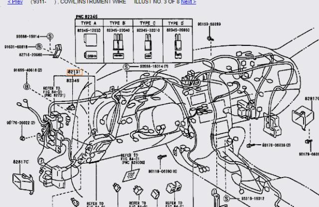 TOYOTA CELICA ST205 GT4 94-99 2.0 3SGTE INTERNAL WIRING