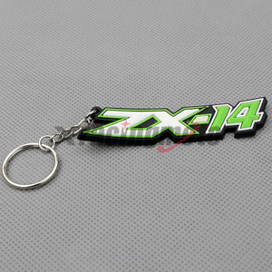 Green Motorcycle Rubber Keyring Keychain Key Chain Key