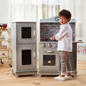 boys play kitchen set island for sale girls toddler kids wood pretend cooking image is loading