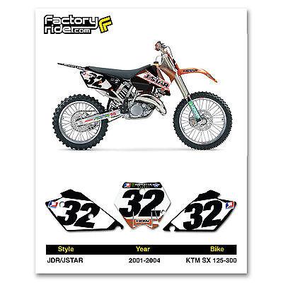 2001-2004 KTM SX 125-300 Dirt Bike Graphics Motocross