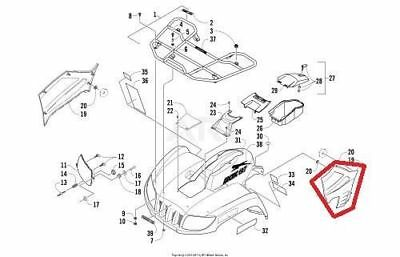 NEW OEM ARCTIC CAT 400 TRV 2009 LOWER LEFT SIDE PANEL