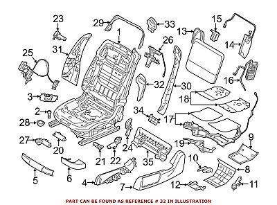 For BMW Genuine Seat Belt Guide Front Right Outer