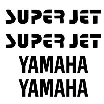 superjet decals black vintage 1990 1991 1992 1993 yamaha