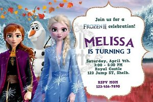 details about frozen 2 birthday invitation digital card printable invite frozen 2 template