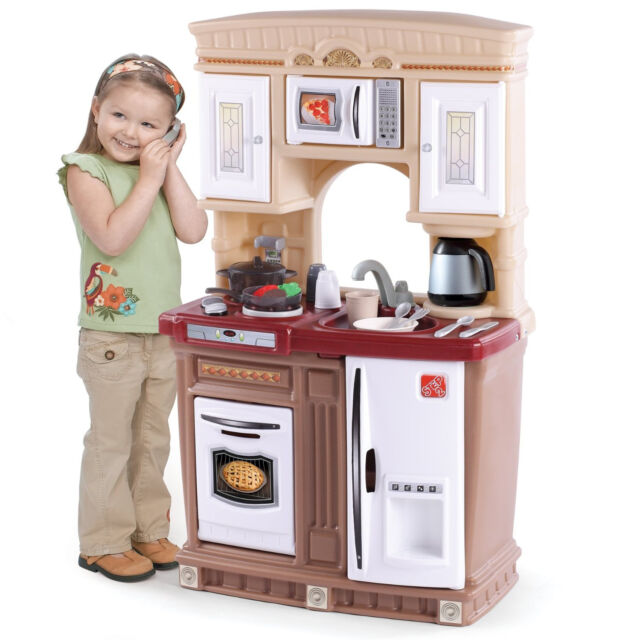 child kitchen set battery powered under cabinet lighting kids pretend play toy toddler cooking toys playset children gift ebay