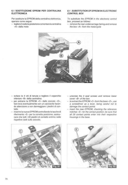MOTO GUZZI Workshop Manual Daytona 1992 1993 1994 1995