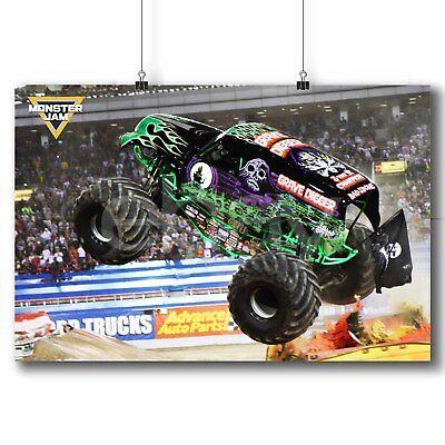 grave digger monster trucks new custom art poster print wall decor ebay