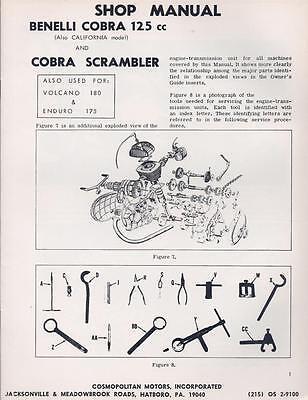 1960's Benelli 125cc/175cc/180cc 2-stroke Parts & Service