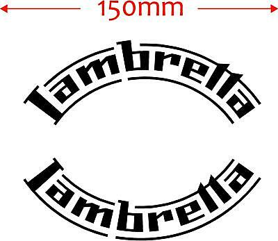 150mm lambretta curved scooter wheel arch lights 125cc