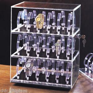 Giratorio Caja Reloj Acrlico Armario Expositor Vitrina Encimera Maletn 36  eBay