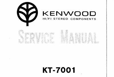 KENWOOD KT-7001 SERVICE MANUAL BOOK ENGLISH INC SCHEM