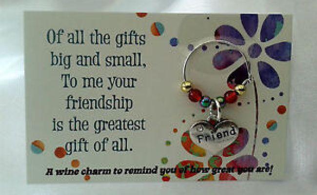 Friendship Wine Charm Gift Birthday For Him Her