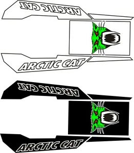 ARCTIC CAT logo TUNNEL top KIT Z1 F 570 F8 F5 SNO PRO LXR