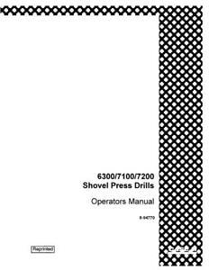 CASE IH 6300 7100 7200 SHOVEL PRESS DRILLS OPERATOR`S