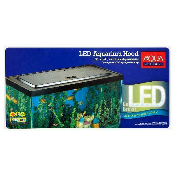 aqua culture 20 55 gallon fish tank hood with led light nv33125 for sale online ebay