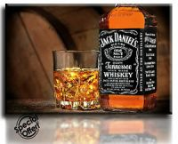 Wall Art Canvas Picture Print JACK DANIELS Framed Ready to