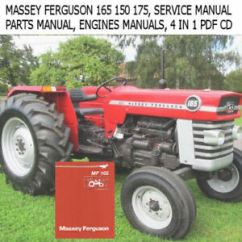 Massey Ferguson 175 Parts Diagram Wiring Light Switch 165 150 Tractor Service Manual Ops Image Is Loading