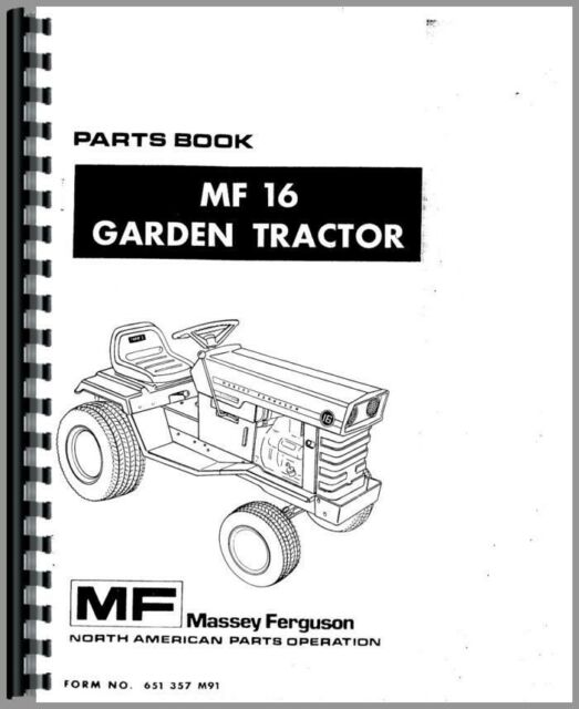 Massey Ferguson 16 Tractor Parts Manual Catalog Lawn