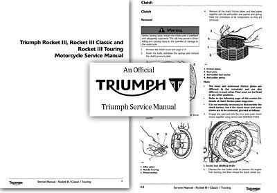 Triumph Rocket III Classic Touring Service Workshop Repair