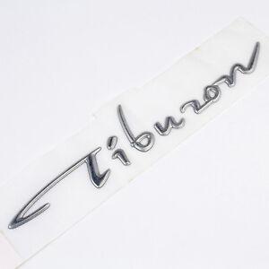 Genuine OEM Hyundai Tiburon Emblem Decal Logo (Long-Silver