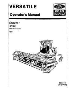 NEW HOLLAND V74758 4400 Swather Diesel Crim 1983 Ver