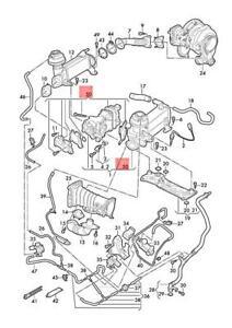 Genuine AUDI VW A6 Avant Repair Set For Exhaust Gas