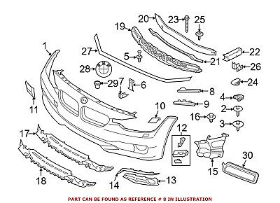 For BMW Genuine Bumper Guide Front Right Upper 51117293788
