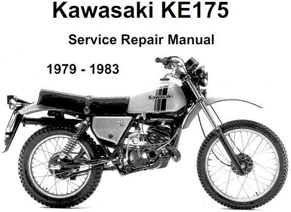 Kawasaki KE175 Service Maintenance Repair Manual 1979