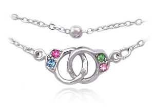 Colorful Handcuffs Anklet Ankle Bracelet Bead Chain