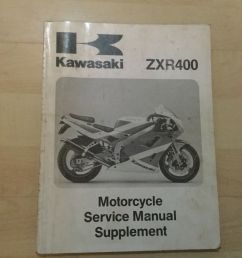 array genuine kawasaki zxr400 motorcycle repair manual supplement ebay rh ebay  [ 1600 x 1200 Pixel ]