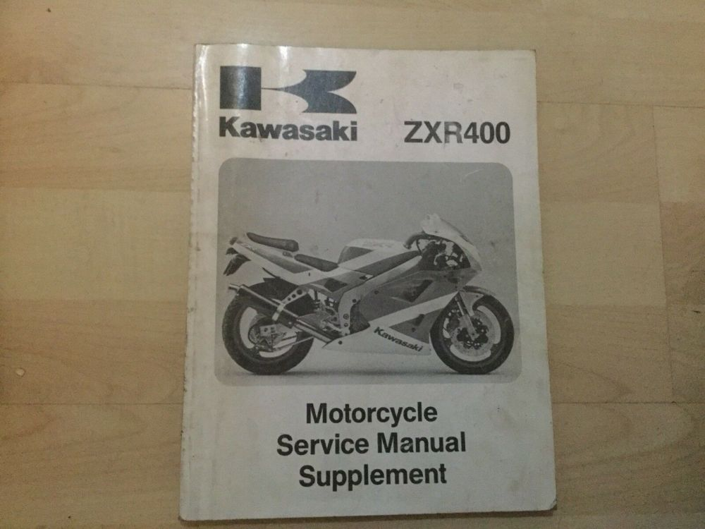medium resolution of  array genuine kawasaki zxr400 motorcycle repair manual supplement ebay rh ebay