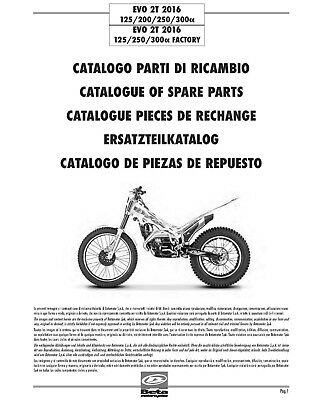 Beta Parts Manual Book Chassis & Engine 2016 EVO 2T 125
