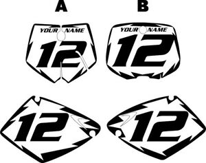 Fits KTM 125 SX 1998-2000 Pre-Printed White Backgrounds