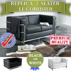 Le Corbusier Sofa Replica Armchairs World Wholesale 2 Seater Lounge In Black Or Image Is Loading