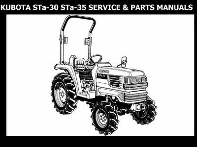 KUBOTA STa-30 STa-35 WORKSHOP & PARTS MANUALs 500pgs for