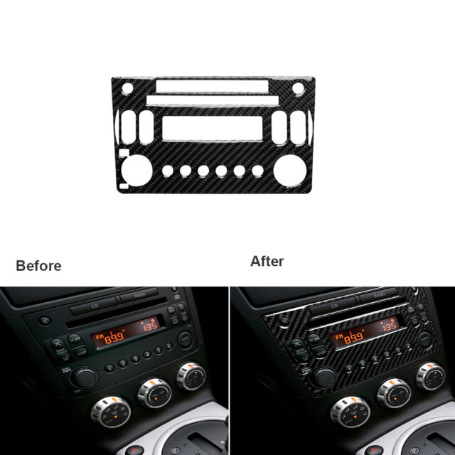 Carbon Fiber Interior Console Radio CD Panel Frame Trim