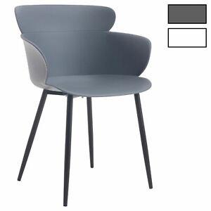 details sur lot de 4 chaises salle a manger ou cuisine coque en plastique avec accoudoirs