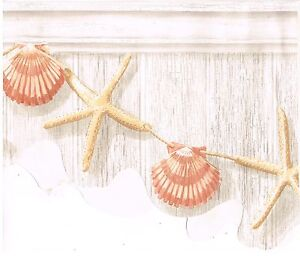 SEA SHELLS AND STARFISH TIED TOGETHER HANGING WALL DIE CUT