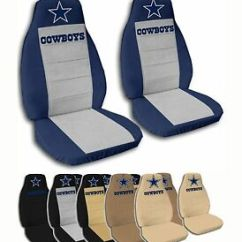 Dallas Cowboys Chair Cover Small Chaise Lounge Chairs For Bedroom Uk Fits Chevy Cruze 2 Front Velvet Seat Covers 10 Color Image Is Loading