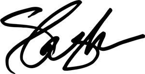 SLASH autograph VINYL DECAL paul epiphone gibson guitar