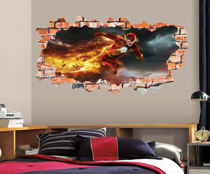 The Flash Wall Decal Smashed Wall Art Sticker Home Decor