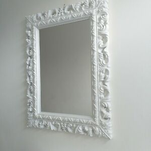 details about white large french resin style ornate wall mirror vintage wall dressing mirror