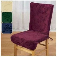 High Back Chair Covers For Sale Ikea Tub Uk Burgundy Ebay Image Is Loading