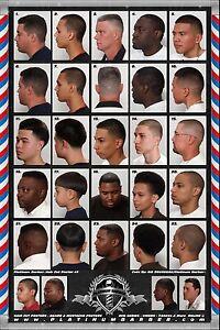 details about 24 x 36 modern barber shop salon hair cut for men chart poster 2