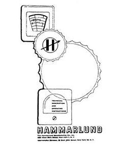 Hammarlund Service and Operating Manuals * CDROM * PDF