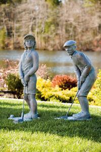 """35"""" nostalgic golfer cement garden"""